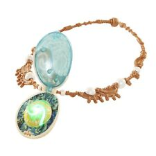 Moana Llue Shell Necklace Heart of Te Fiti Magically Lights UP Soft Green Glow