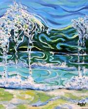 BEACH Ocean Surf Original Art PAINTING DAN BYL Investment Collector Canvas XXL