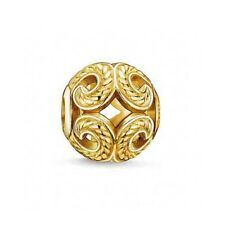 New Genuine THOMAS SABO Sterling Silver & Gold Plated Wave Karma Bead K0051 £55