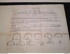 ANNALES PONT et CHAUSSEES (Dep 69) Plan du Souterrain des Echarmeaux 1900