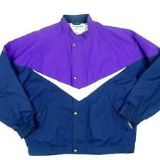 Vintage Tourney Goretex Jacket  XL Mens Purple Blue  80's Zip Up Windbreaker