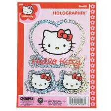 Hello Kitty Herz Sanrio Holografik Glitzer Aufkleber Sticker Decal 3 Stück NEU