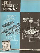 REVUE TECHNIQUE AUTOMOBILE 209 RTA 1963 FORD TAUNUS 12M P4