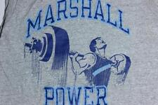 80s Vintage Marshall Power Barristers Rayon Blend Muscle Gray T Shirt XS