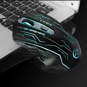 Wired USB Optical Gaming Colorful Light Mouse PC Laptop Desktop Game Mice