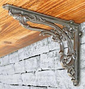 Cast Iron Shelf Bracket Period Pattern Rustic Antique Retro Ornate Victorian