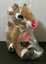 Rudolph the Red Nosed Reindeer MUSICAL LIGHT UP Plush STUFFED ANIMAL New