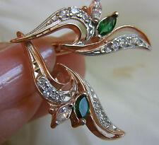 Designer Ohrringe  925° Silber gez. Diamant Ukraine im Jugendstil um 2000 O41