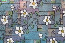 """Chois Gw530D Static Cling Vinyl Decor Floral Stain Glass Window Films 35"""" x 48"""""""