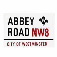Calamita da frigo smaltata 'Abbey Road' segnale strada Londra (gg)