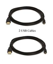 Two USB Cables for Canon PowerShot A430 A450 A460 A470 A480 A490 A495 A510 A520