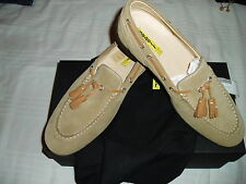 SABELT SHOES LOW BODY DRIVE SUEDE SAND Sz 42 SCARPE MOCASSINI PELLE SCAMOSCIATA