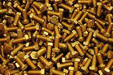(250) Hex Head Bolts 5/16-24 x 3/4 Grade 8 Fine Thread Yellow Zinc USA Made