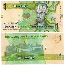 Turkmenistan Billet 1 MANAT 2009 P22 PREFIX AA BON ETAT // XF