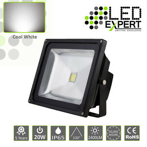 10 x LED Expert 20w LED Flood Light Security 5 Year Warranty IP65 Cool White CE