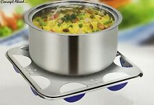 Deluxe Metal Hotpot Stand Plate Pan Pot Stand Kitchen Square Trivet Coaster