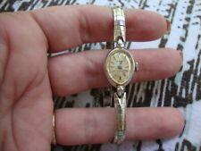 Estate Vintage Designer 10k G.F Ladies Luxury RADO SWISS Watch Bracelet WORKS