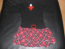 Kleid  Mädchen Gr. 122 schwarz ror karriert von C&A Here & There