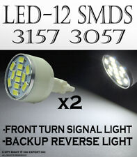 x2 pc 12 SMDs LED Super White Front Turn Signal Replacement Light Bulb Lamp Y579