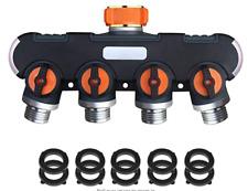 New listing 4 Way Garden Hose Splitter Heavy Duty Water Hose Adapter Hose Connector