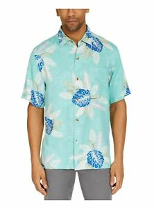 TOMMY BAHAMA Mens Green Printed Classic Fit Button Down Casual Shirt XXXL