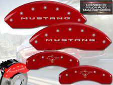 "2015-2017 Ford ""Mustang"" V6 Front + Rear Red MGP Brake Disc Caliper Covers Pony"