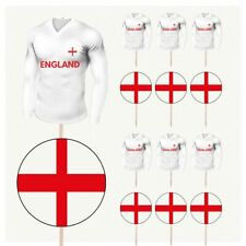 England Football Cupcake Food Cake Decorations Picks Toppers Euro World Cup 14PK