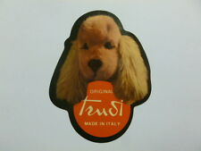 VECCHIO ADESIVO / Old Sticker PELUCHES TRUDI CANE DOG (cm 7 x 9) f