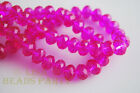 100pcs 3x4mm Faceted Rondelle Crystal Glass Loose Spacer Beads Rose Red Crafts