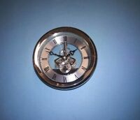 105mm SILVER SKELETON QUARTZ CLOCK  insert movement