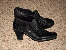 Wmns Sz 7 1/2 Black Man Made Materials Bass Shoes