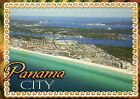 Aerial View of Panama City Florida, Hotels & Beach, Gulf of Mexico FL - Postcard