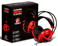 (NEW) MSI SteelSeries Siberia V2 Full-Size RED Dragon Edition Headband Headset