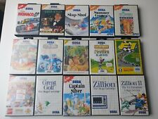 Sega master system jeux 15 pièces, Capitaine Silver, milliard 2, SUMMER GAMES