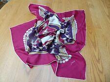 Joules 100% Seda Bufanda grande, color de rosa/púrpura, BNWOT, nunca usado, ecuestre, regalo?