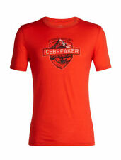 Icebreaker Tech Lite Ss Crew Alpine Crest Top (M) Chili Red