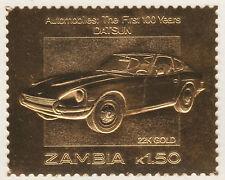 Zambia 5214 - 1987 CLASSIC CARS - DATSUN en 22K or foi Non montés excellent état