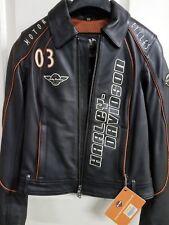 #401 NWT Harley-Davidson women's black leather jacket, XS