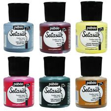 Pebeo Setasilk Silk Fabric Iron Fix Permanent Paint 45ml - 30 Colours Available