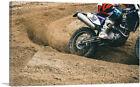 ARTCANVAS Dirt Bike Motocross Streaks Canvas Art Print