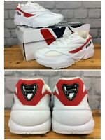 FILA UK 3 1/2 EU 36 1/2 VENOM 94 LOW WHITE AND RED TRAINERS CHILDRENS LADIES LG