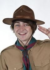 Adult Size Brown Felt Scout Hat