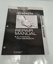 1993 TOYOTA PREVIA A46DE A46DF REPAIR MANUAL AUTOMATIC TRANSMISSION NO RM328U