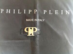 Philipp Plein Gürtel Gold 120 cm