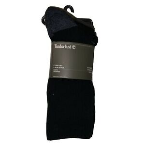 Timberland 4-Pair Men's Comfort Crew Socks - Black/Brown/Gray (7369)