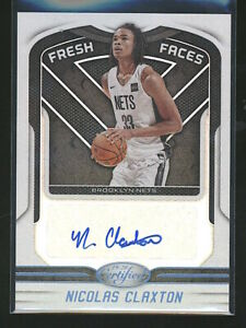 2019-20 Certified NICOLAS NIC CLAXTON autograph auto rookie RC Faces Nets