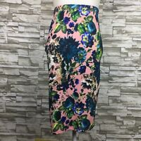 Material Girl Pink Floral Print Womens Straight Pencil Skirt Size Small NWT