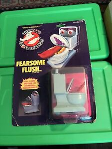 Vtg Real Ghostbusters Fearsome Flush Toilet Figure MOC 1986 Kenner New Sealed