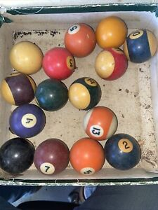 OLD EIGHT BALLS INCOMPLETE SET BUT STILL GOOD CONDITION