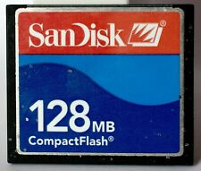 SanDisk blue 128MB compact flash card.